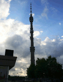 286 Televizní věž Ostankino v Moskvě